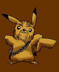 These Anime Star Wars Fan Arts are Out of this World: Pikachu and Chewbacca Pokemon Anime and Star Wars Fan Art Mashup