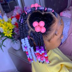 Little Girls Natural Hairstyles, Little Girl Braid Hairstyles, Cute Toddler Hairstyles, Little Girl Braids, Cute Hairstyles For Kids, Baby Girl Hairstyles, Kids Braided Hairstyles, Braids For Kids, Infant Hairstyles