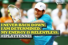 Never back down. #tennis