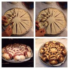 I think this is made with a type of croissant pastry and nutella? Must try!