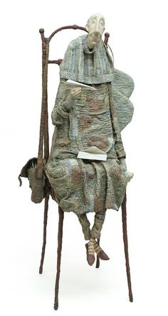 Textile Sculpture, Art Textile, Soft Sculpture, Ooak Dolls, Art Dolls, Saint Yves, 3d Figures, Marionette, Unusual Art