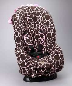 LOVE! Take a look at this Brown Ginny Giraffe Corduroy Car Seat Cover by Baby Bella Maya on #zulily today!