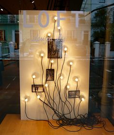 "Modern shop window - ""christmas tree"" See how to create effective Store Windows for Christmas https://www.sishop.com.au/blog/retail-christmas-tips-attract-customer-with-effective-window-displays/ #retail #storewindows #christmas"