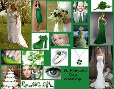 st patricks wedding day theme