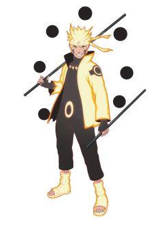 Naruto Uzumaki in Six Paths Sage Mode (Rikudō Sennin Mōdo)
