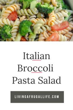 Are you looking for an Italian Broccoli and Pasta Salad Recipe? This one is fast and easy with fresh ingredients that taste so good! Broccoli Pasta Salads, Vegetarian Pasta Salad, Vegetarian Italian, Broccoli Recipes, Quick Pasta Salad Recipe, Italian Spaghetti Salad Recipe, Pasta Salad Recipes, Quick Cheap Meals, Easy Summer Meals
