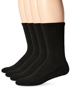 Dr Scholls Mens Diabetes and Circulatory  Crew Sock Black 712 Pack of 4 *** Check out this great product.Note:It is affiliate link to Amazon. #tagblender