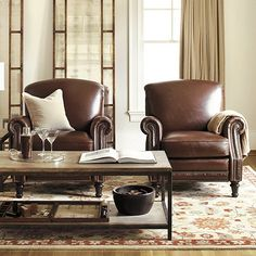 Theodore Leather Recliner from Ballard Designs