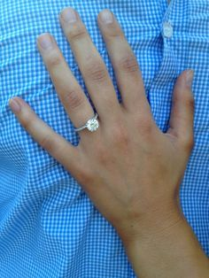 Another happy custom engagement ring customer