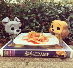 Side by side with your loved one, you'll find enchantment here // Funko Disney Lady & The Tramp Pop! Vinyl Figure Set Hot Topic Exclusive