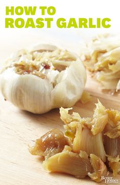 Roasted garlic can be a sweet spread slathered on crusty bread! Find more ways to roast here: http://www.bhg.com/recipes/how-to/cooking-techniques/how-to-roast-garlic/?socsrc=bhgpin092814roastgarlic