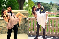from senior prom to wedding...does it get cuter than this?!