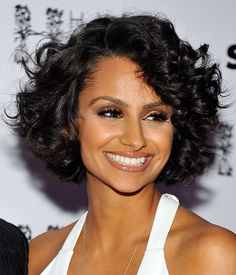 Nazanin Mandi cute curly bob
