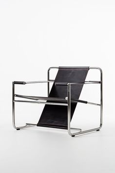 Eero Aarnio; Stainless Steel and Leather 'Graphic' Chair, 2011.