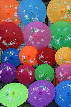 Umbrellas - in your drink - to shield from sun and rain - to look pretty - as décor - umbrellas brighten up your day
