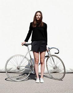 #girl + #bike #woman