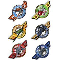 Disney Planes Party Supplies, Disney Planes Tattoos, Favors