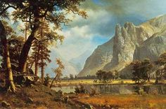 Albert Bierstadt, Yosemite Valley Fine Art Reproduction Oil Painting