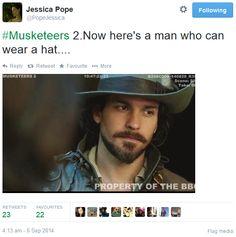 The Musketeers - Series II BtS filming via Jessica Pope's Twitter (Aramis)