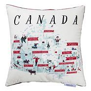 CANVAS Designer Series FaLaLa Embroidered Sequin Cushion Canadian Tire Triangle Design, Circle Design, Quebec, Ontario, Sequin Cushion, Government Of Canada, Used Tires, Canadian Tire, Air Purifier