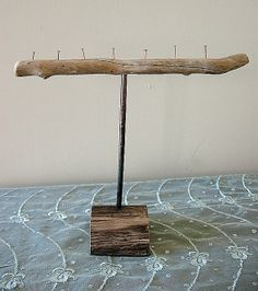 Salvaged Driftwood and Copper Jewelry Stand  by missficklemedia, $20.00