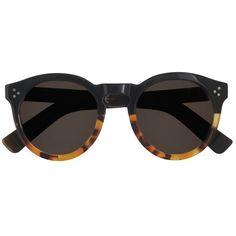 J.Crew Illesteva Leonard Ii Tortoiseshell Sunglasses ($380) ❤ liked on Polyvore featuring accessories, eyewear, sunglasses, glasses, acetate sunglasses, tortoise shell glasses, acetate glasses, tortoiseshell sunglasses and illesteva glasses