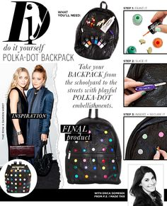 Do It Yourself: Polka-Dot Backack - Celebrity Style and Fashion from WhoWhatWear