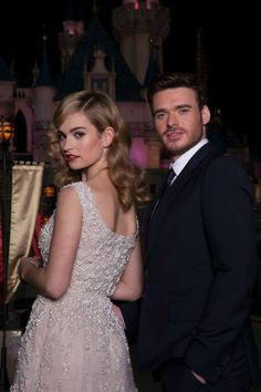 Lily James and Richard Madden, the stars of Disney's Cinderella, surprised fans last night at an exclusive screening event at Disneyland Resort.