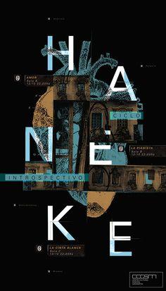 Aficheta realizada para Diseño 1 Gabriele - Ciclo de Cine Haneke - FADU/UBA