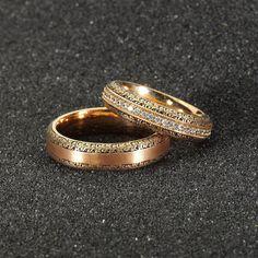 www.doraalyans.com Classic Wedding Rings, Matching Wedding Rings, Gold Wedding Rings, Gold Ring Designs, Gold Bangles Design, Engagement Rings Couple, Diamond Engagement Rings, Couple Ring Design, Bracelets