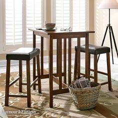 Kitchen table. Breakfast bar. Pub table. You name it. This new Medford counter-height dining set does it all with a stylish look and a space-savvy footprint.