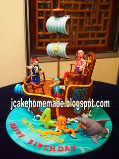 Jake and the neverland pirates cake (by Jcakehomemade)