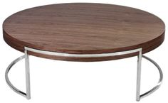 Pangea Home Leah Round Coffee Table Modern Sideboard, Contemporary Coffee Table, Round Coffee Table, Furniture, Home Decor, Jewerly, Decoration Home, Room Decor, Home Furniture