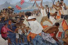 A exposição Fronteiras e Impermanências reúne seis artistas visuais atuantes no cenário carioca. Na imagem, obra de Margaret de Castro.  Imagem de divulgação/Espaço Cultural Correios Niterói