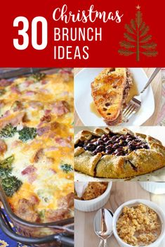 Christmas Day Brunch Recipe Round-Up! With the holidays upon us, it's time to start thinking about your menu. Within this list, you're sure to find the perfect breakfast or brunch to serve your friends & family! Let us help you this Christmas season. Brunch Recipes, Easy Dinner Recipes, Holiday Recipes, Breakfast Recipes, Christmas Recipes, Christmas Menu Ideas, Christmas Holidays, Christmas Dinners, Brunch Food
