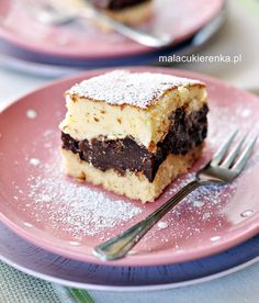 Cheesecake with chocolate pudding (translate) Polish Desserts, Polish Recipes, Mini Cakes, Cupcake Cakes, Cake Recipes, Dessert Recipes, Create A Cake, Delicious Magazine, English Food