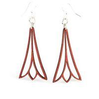 Green Tree Wood Earrings