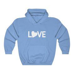 L-O-V-E Hooded Sweatshirt - Carolina Blue / S
