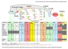 IPA chart and mouth map