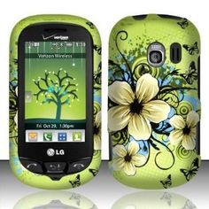 LG Extravert(Verizon) vn271 Accessory - Green Hibiscus Hawaii Flower Design Case Protective Cover (Wireless Phone Accessory)  http://www.picter.org/?p=B007524ZBG