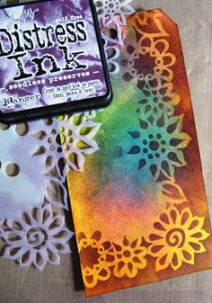What fun it is to get Stencils in the mail 2 days in a row!!!!  Stamps, Stencils, Spray Inks....yes, it's a great day in the Studio to play....