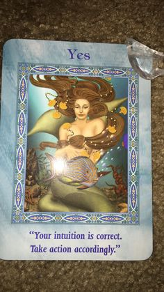 """Good morning gorgeous friends,  Today's Card is Yes!  Your intuition is telling you what direction to take. Pay attention to your heart's desires and ask the question """"which step takes me closer to my goal?"""" And you will hear the answer just listen!  You know what to do and you are divinely guided! Trust yourself, trust your intuition!  Today's message is short, but powerful! It's clear what it is we are asked to do!  I love you guys!  If you would like to have a personal reading, visit my…"""
