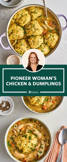 The Unexpected Ingredients the Pioneer Woman Adds to Her Chicken and Dumplings - Moyiki Sites The Pioneer Woman, Pioneer Woman Dishes, Pioneer Woman Recipes, Pioneer Women, Pioneer Woman Chicken And Dumplings Recipe, Chicken Soup Pioneer Woman, Pioneer Girl, Casserole Recipes, Soup Recipes