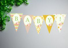 Sweet Little Baby Shower Banner by PaperWillowDesigns on Etsy