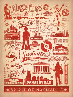 Spirit of Nashville, TN. Great for dorm rooms or to hang at home to brush away school-sick blues.