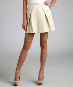Definite year-round staple for every girl's closet!  Rachel Zoe off white metallic brocade flared skirt - Buy it here: https://www.lookmazing.com/products/show/1878406