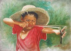 game of old childhood memories - my ely Filipino Art, Filipino Culture, Art Village, Village Kids, Indian Village, Philippine Art, Philippines Culture, Indian Paintings, Art Festival