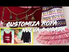 Aprende a darle estilo a tu ropa - YouTube Tassel Necklace, Youtube, Diy, Jewelry, Fashion, Upcycled Clothing, Personal Style, Clothing Styles, Trends