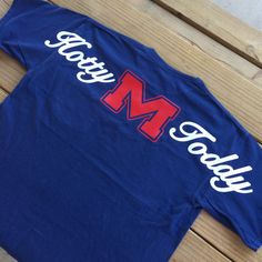 "Must have! So affordable! Spirit jersey style! Ole Miss ""Hotty Toddy"" Short Sleeve Comfort Colors Monogrammed Tee on Etsy"