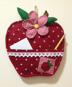 Mela porta notes Sewing To Sell, Sewing For Kids, Free Sewing, Diy Craft Projects, Diy And Crafts, Sewing Projects, Craft Items, Craft Gifts, Homemade Christmas Gifts